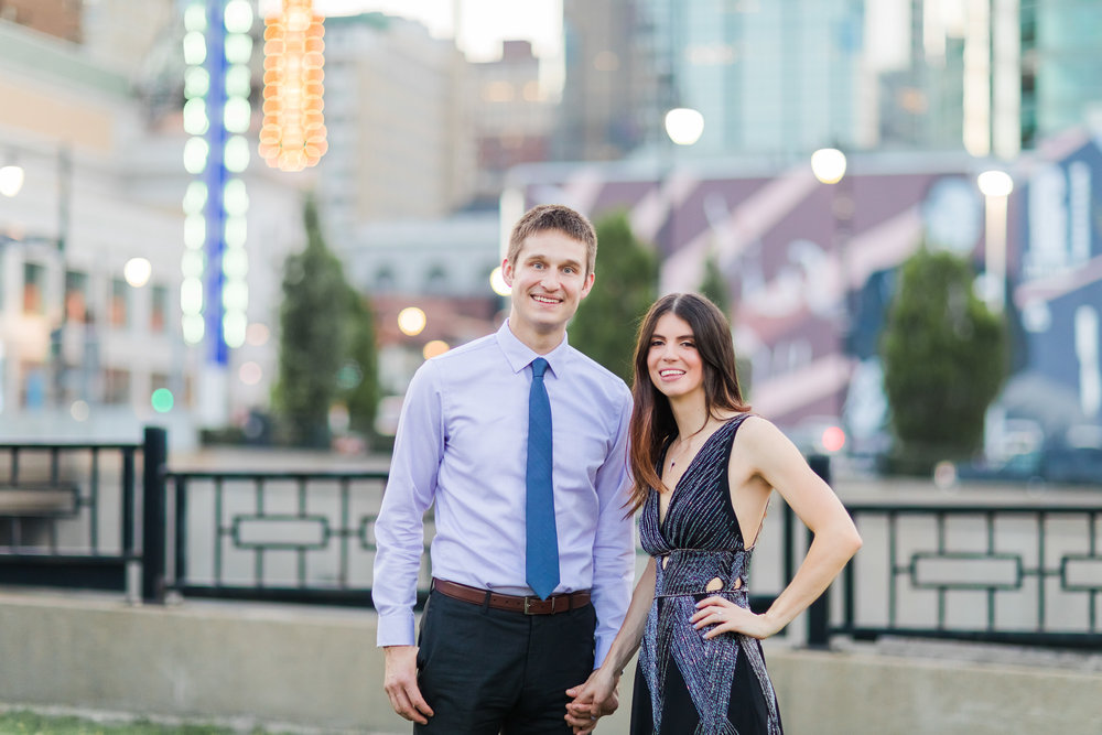 Downtown Kansas City Power & Light District Engagement Session