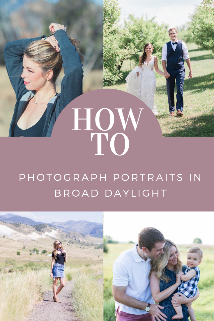 how to photograph portraits in broad daylight mid-day sun