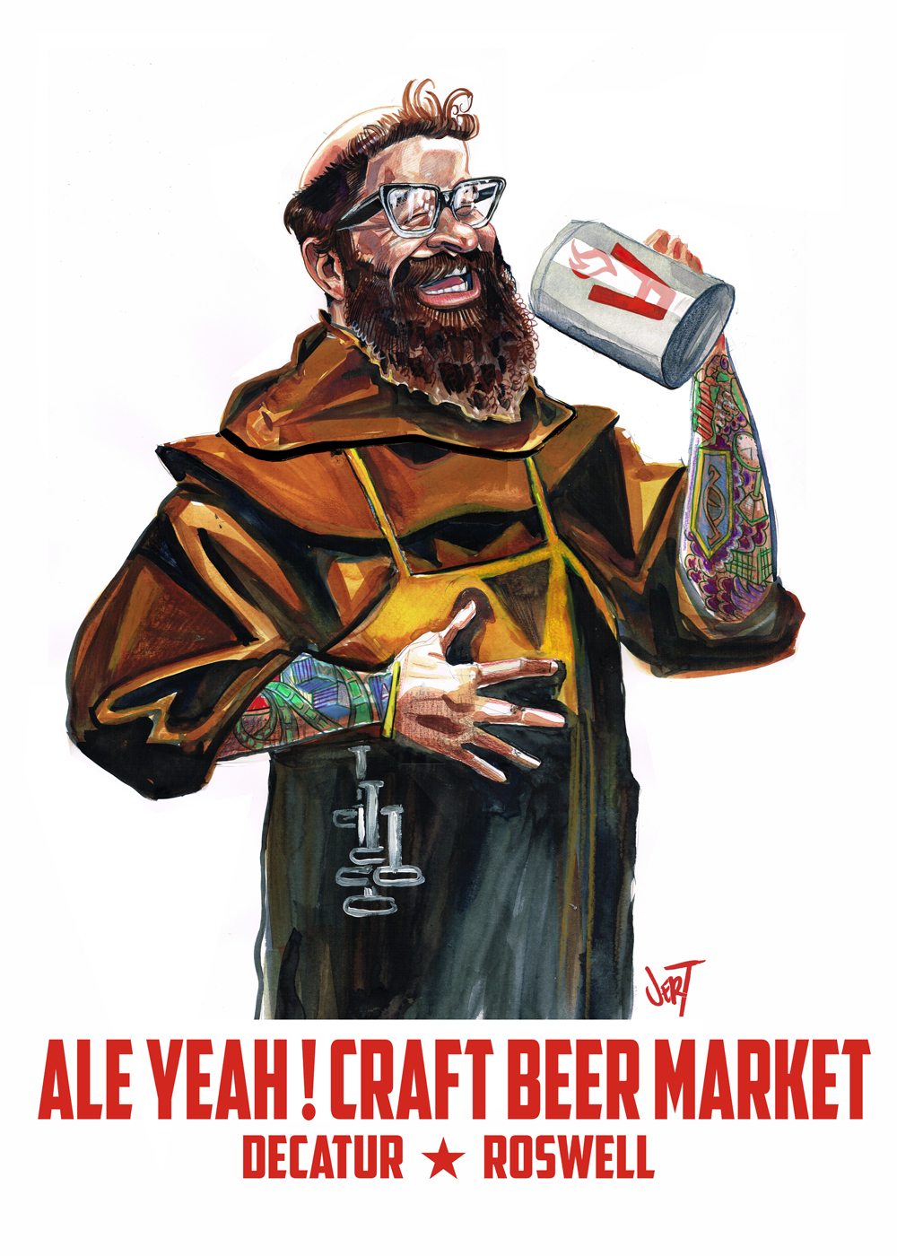 client: Ale Yeah Craft Beer Market 2014  concept and art: Jert