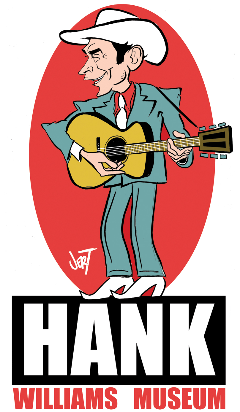Client: Hank Williams Museum  2012  concept and art: jert