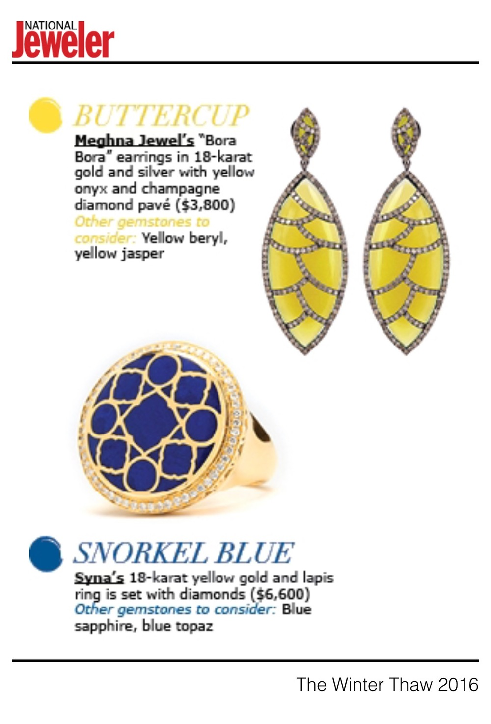 Bora Bora Earrings as featured in National Jeweler