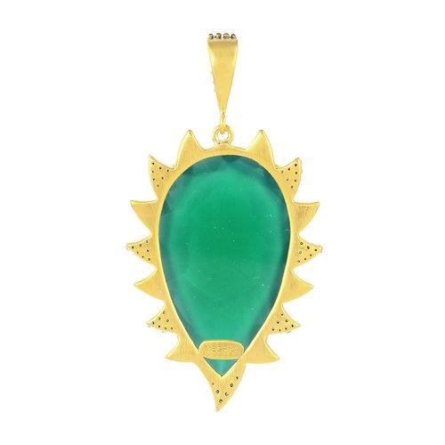 8741a4e0fd4 Claw Black Onyx Diamonds Pendant Necklace