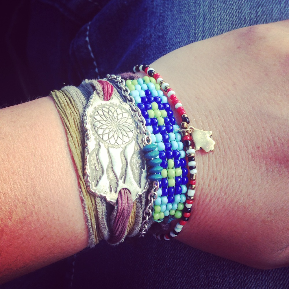 Dreamcatcher Silk Wrap Bracelet