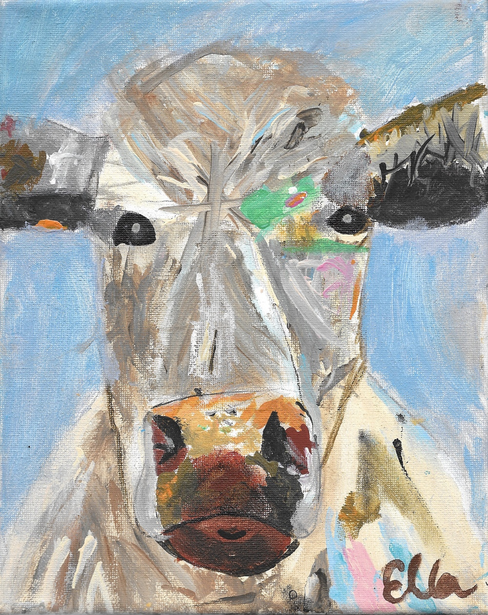 Ella's cow painting