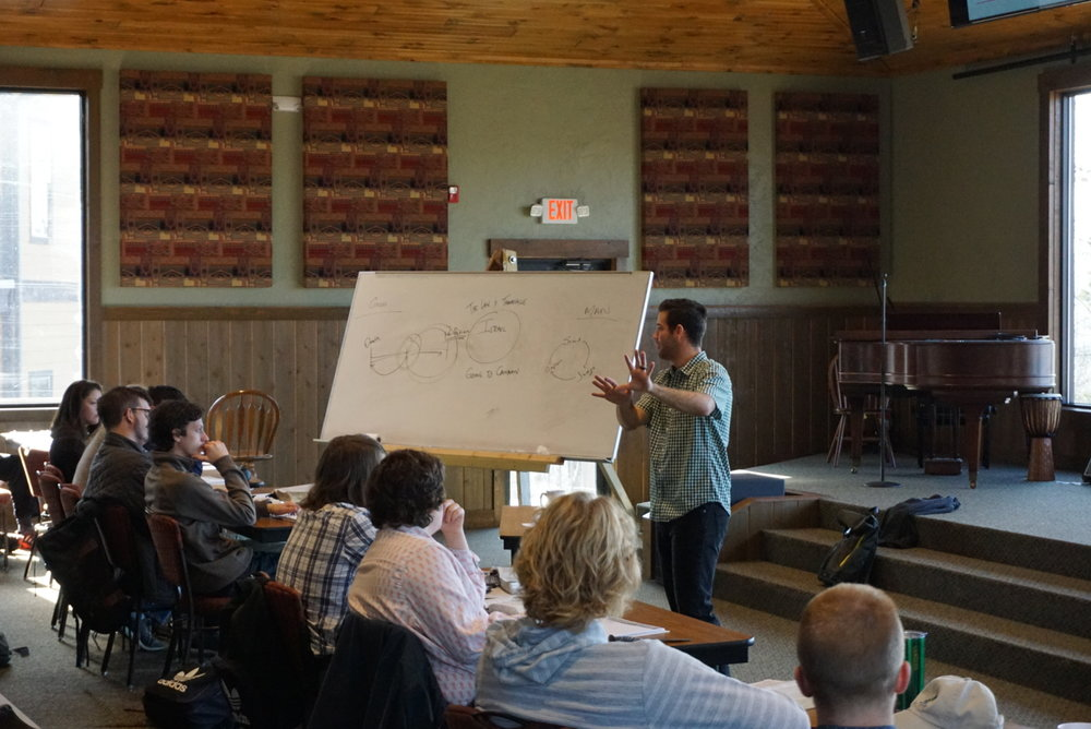 Garrett Perkins teaching