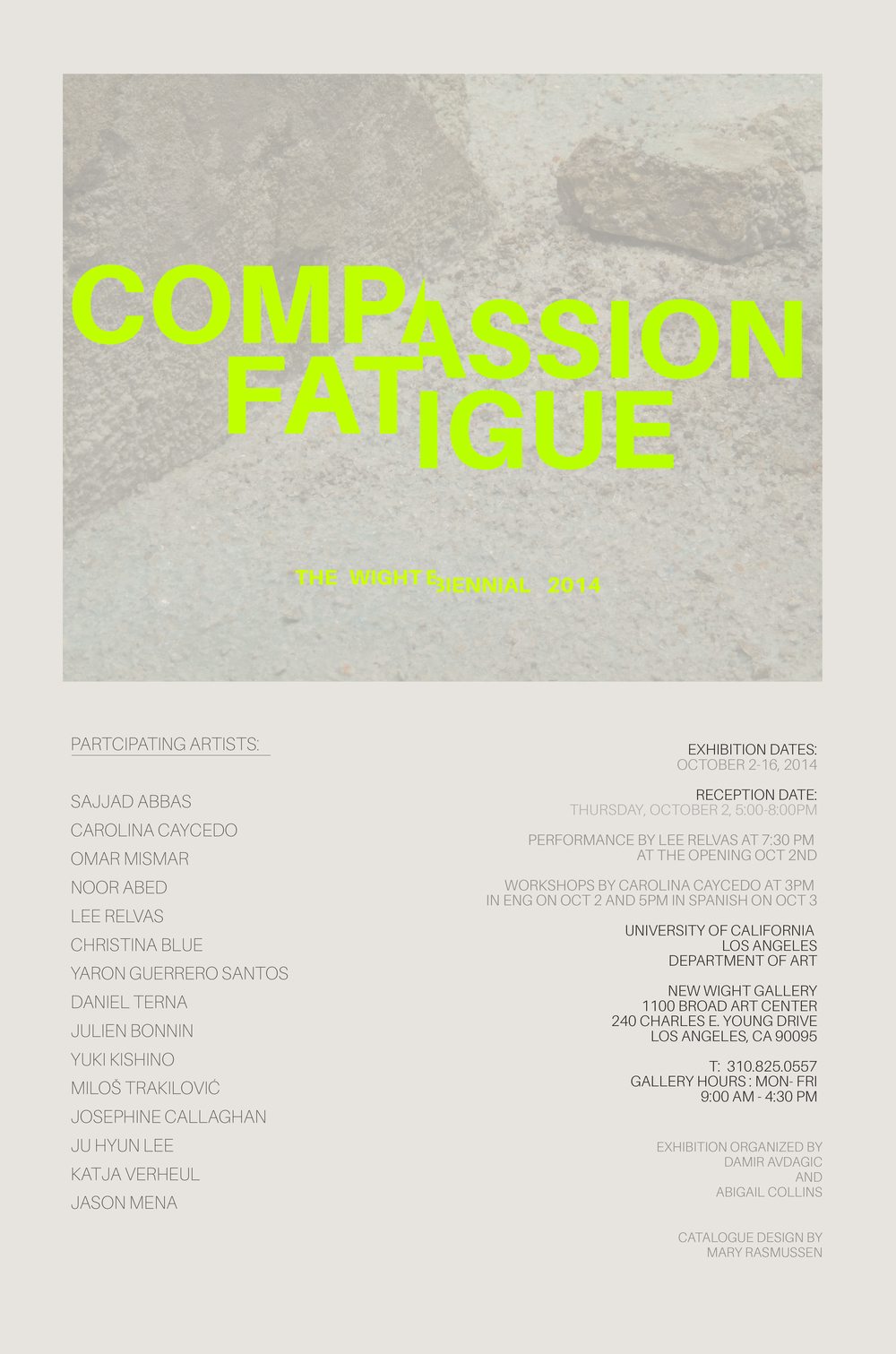 compassion fatigue abigail raphael collins the catalog designed by mary rasmussen features an essay below by hans kuzmich
