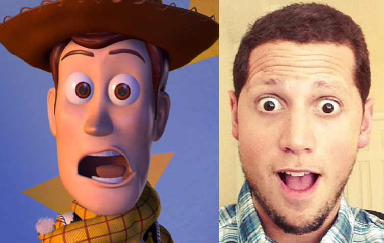 Left: Woody. ©Disney/Pixar. Right: Jon Negroni.