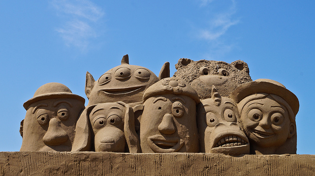 The 2013 Weston-super-Mare Sand Sculpture festival in England featured this  Toy Story 3  piece.  Courtesy: Getty Images.