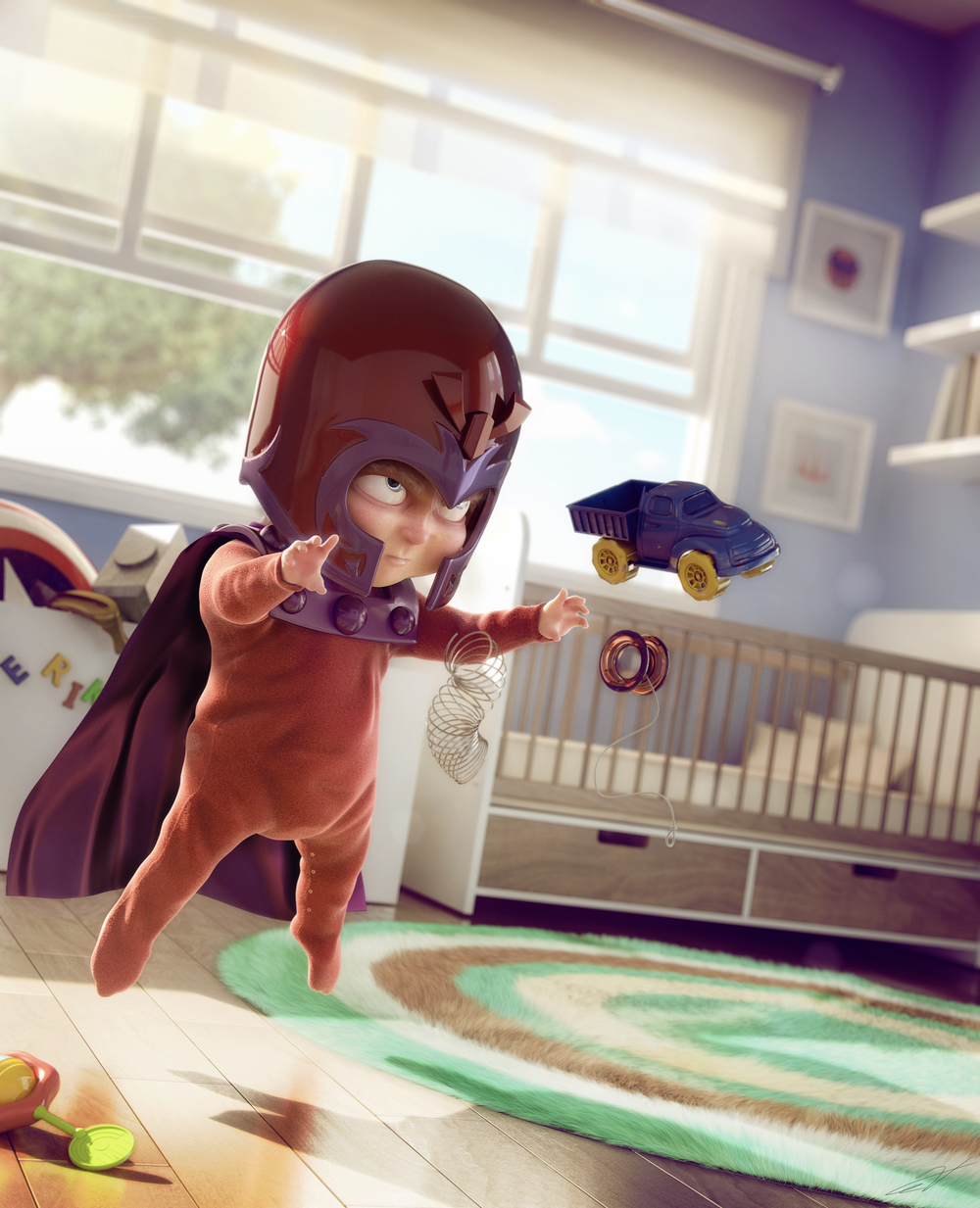 X-Men meets Pixar mashup. 3D render by Victor Hugo.