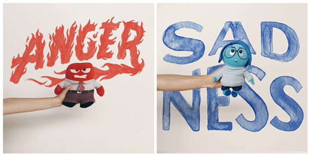 Lettering and images by Sean Tulgetske, inspired by Pixar's Inside Out.