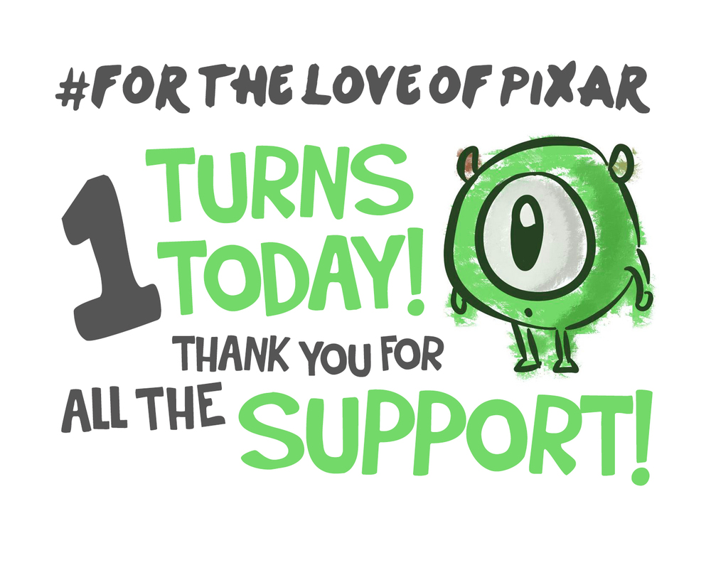 For the Love of Pixar 1 Year
