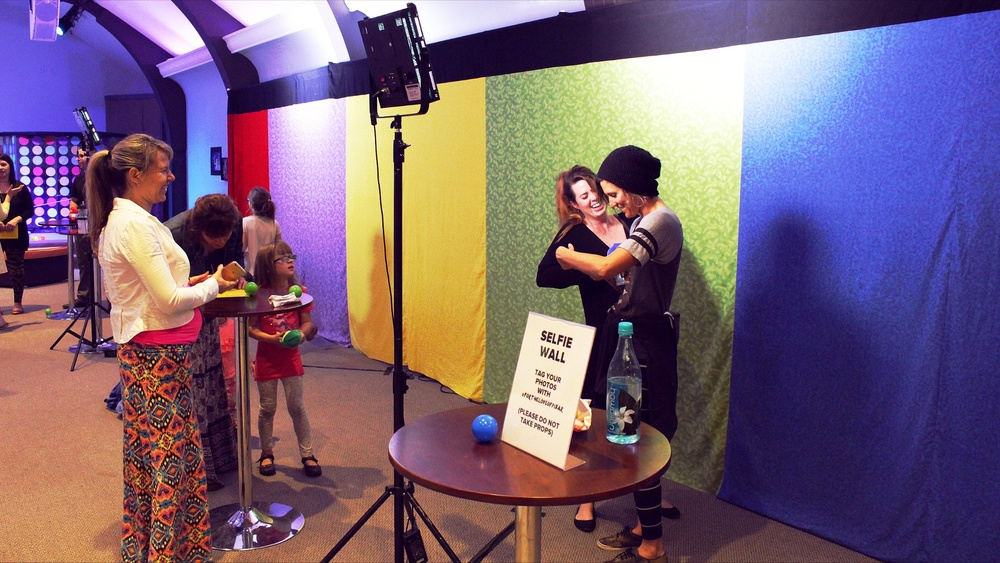 For the Love of Pixar: Sweet! Emotions. Selfie Booth. Photo taken by Jaron Apalategui.