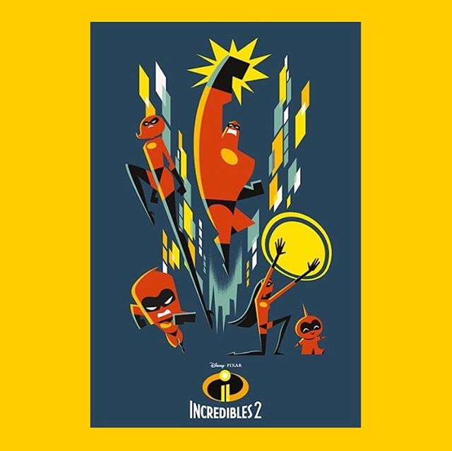 Anyone else really digging these 'Incredibles II' posters designed by the insanely talented Eric Tan @erictanart?! We dig! We totally dig!! 🙌🏼😃 #incredibles2 #incredibles #pixar #disney #movieposter