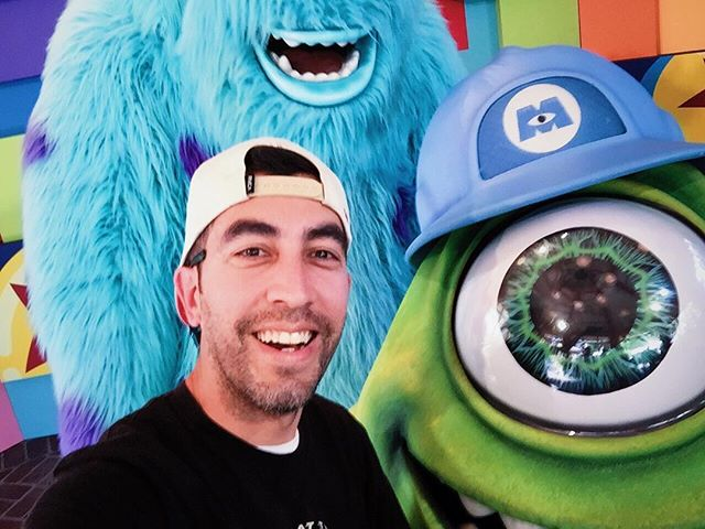 Mike wanted to make sure he was in frame this time. #fortheloveofpixar #pixarfest #pixar #pixarpals #californiaadventure