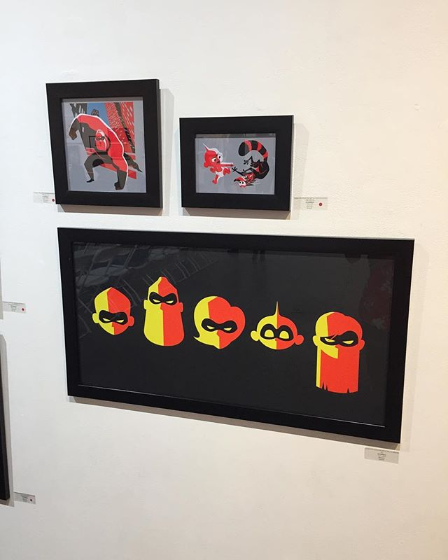 'Incredibles 2' art from the walls of Gallery Nucleus @gallerynucleus. Tribute show runs through July 1st. 👊🏼 #incredibles #gallerynucleus #pixar #disney