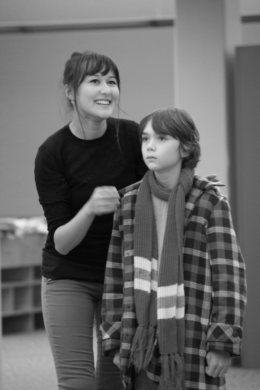 Emily Gardner Hall (Snow Queen) and Dylan Lowe (Cade) in rehearsal