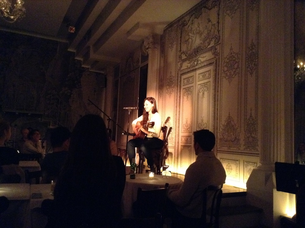 Emily Gardner Hall singing at Bowery Poetry Club