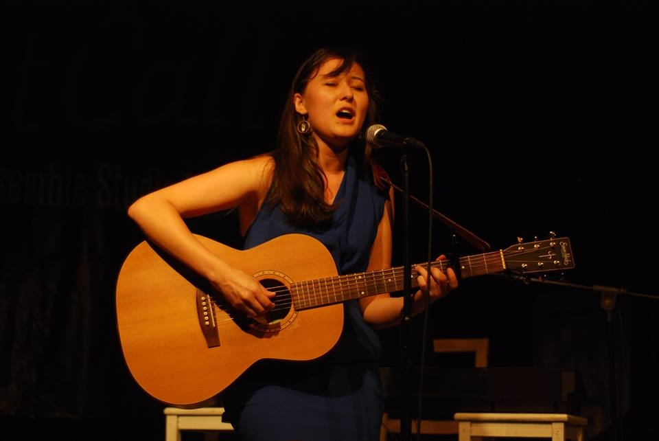 Emily Gardner Hall singing her original song at Ensemble Studio Theatre's Last Call
