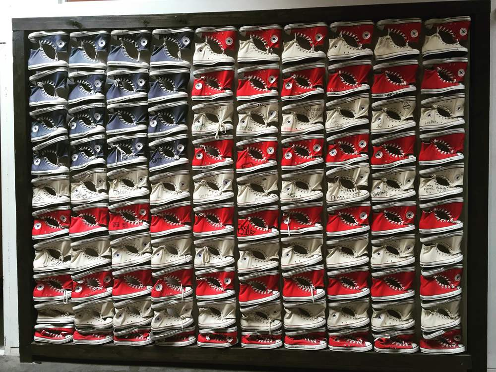 American Flag of Converse shoes.