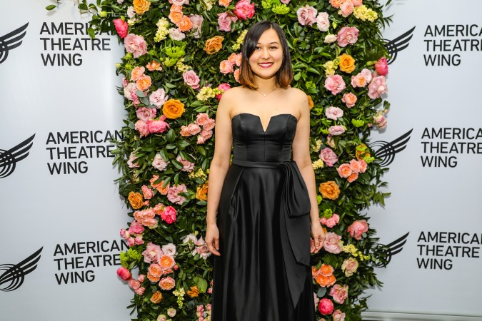 Emily Gardner Xu Hall at the American Theatre Wing Jonathan Larson Grant presentation. Photo: Marc J. Franklin for Playbill