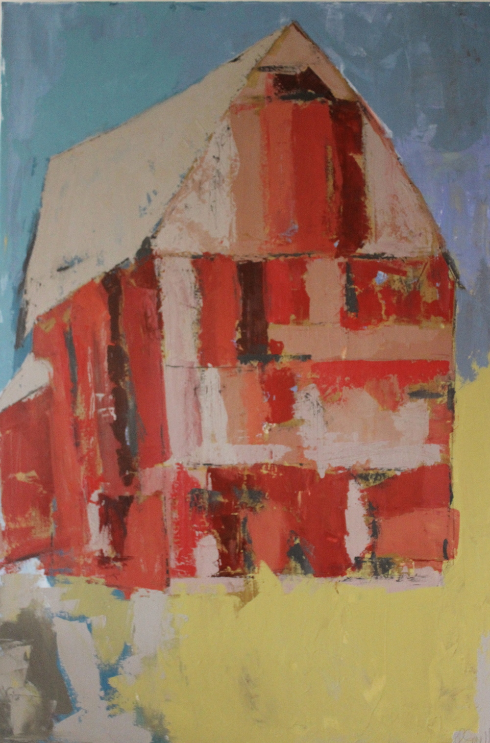"""Patchwork Barn"" 48x60 at Atelier Gallery Charleston SC"