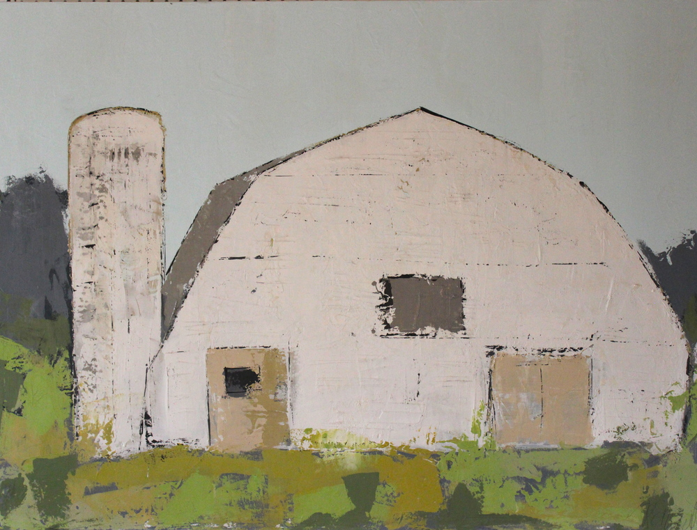 """Grasslands Silo"" 30x40 at Atelier Gallery Charleston, SC"