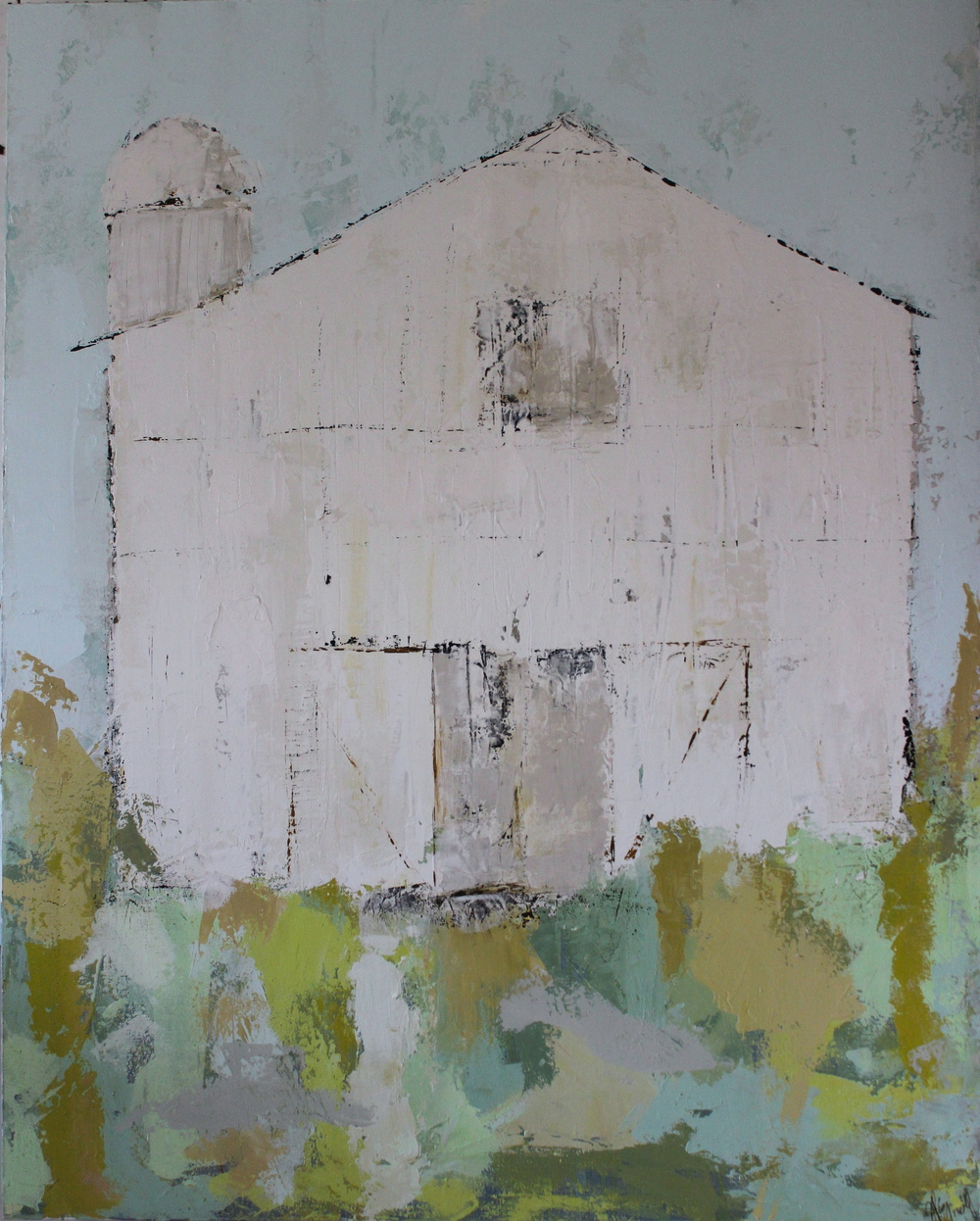 """Barn of Thistles"" 48x60 at The Atelier Gallery Charleston, SC"
