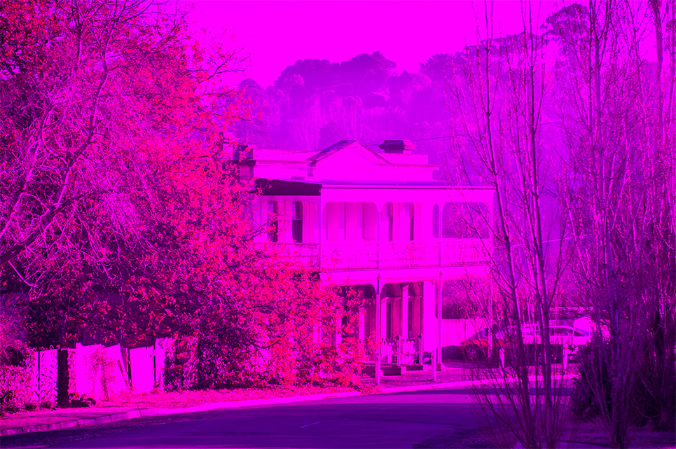 I now know what the world looks like when the chip in your camera fails…Okay if you like Magenta.   This was shot on my D2x on a recent trip to Daylesford. The D2x had been my back up camera since I bought the D700, so now I'm going to have to decide whether to buy the  D800E  or another D700. Mmmmm.