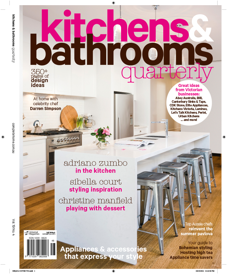 Kitchens & Bathrooms Quarterly magazine has been invigorated by the new editor, Karen Miles, and the latest redesigned issue features my image on the cover from a shoot for  Rosemount Kitchens    This is one of the first jobs I photographed for Rosemount Kitchens, making it especially exciting to get the cover. It was also nice to receive a phone from Mark at Rosemount to thank me.