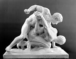 Ancient Roman marble Sculpture,  The Wrestlers.