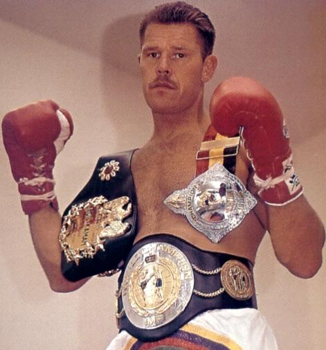 Consensus best non-Thai Thai Boxer of all time, Rob Kaman. 9 time World Champion, pro record of 97-12-1 (2) (77 KO).