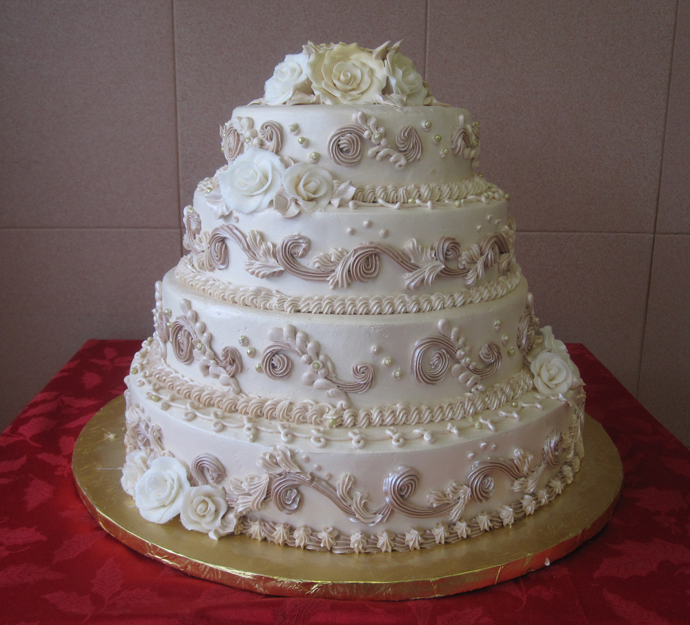 34 Thick Scrolls in Dark Ivory & Pearlized. Gum Paste Roses