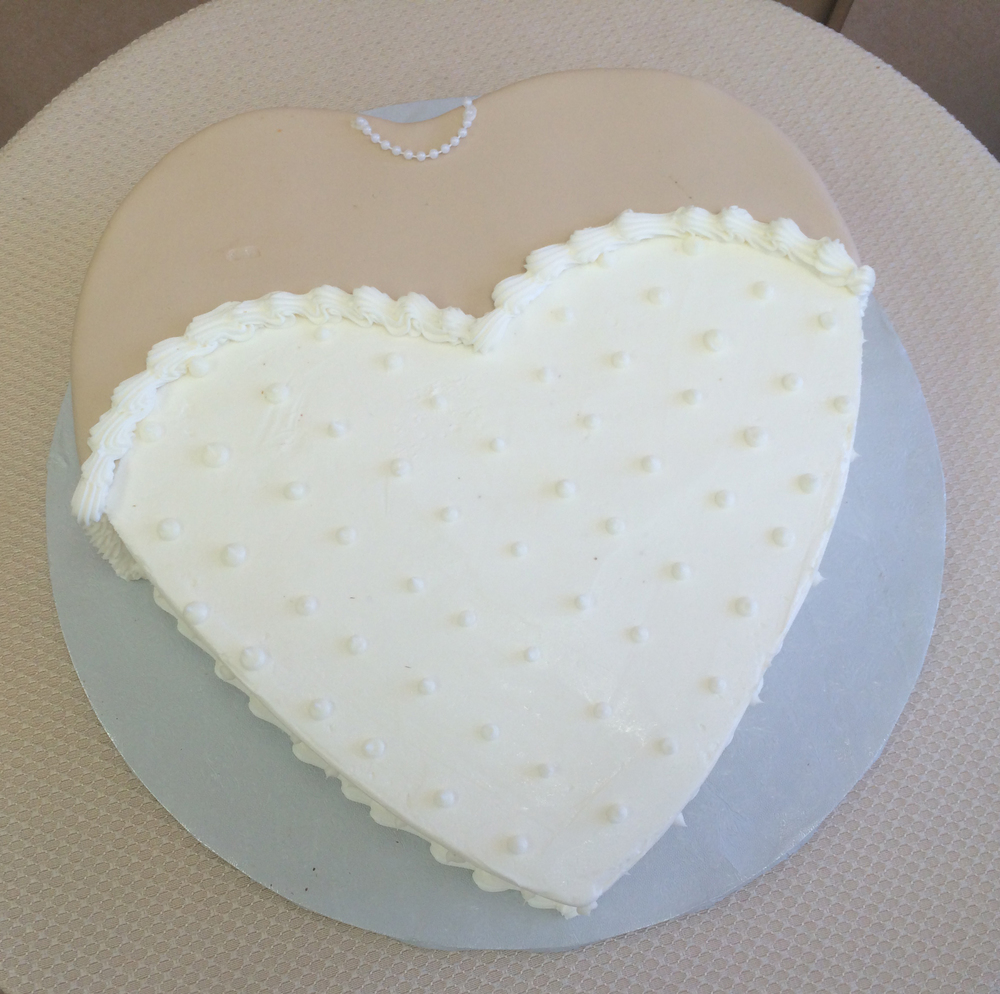 Heart Shape Bride Cake