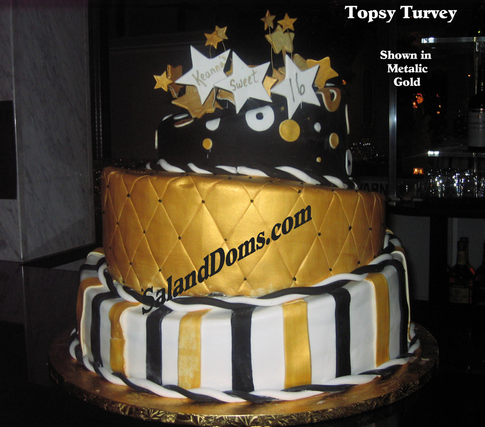 Topsy Turvey Metallic Gold & Black