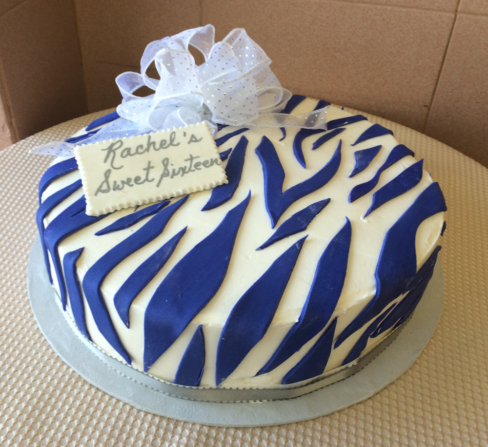 Butter cream Purple Zebra Print