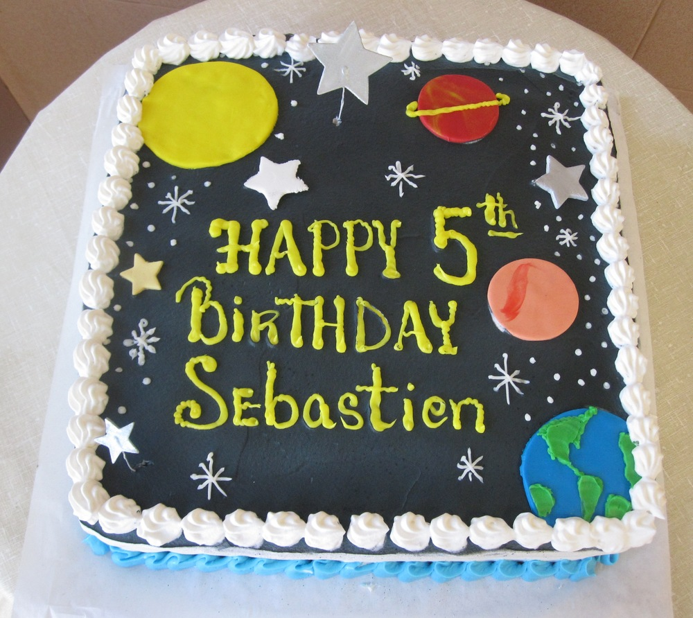 Occasion cakes sal dom 39 s pastry shop for Outer space cake design
