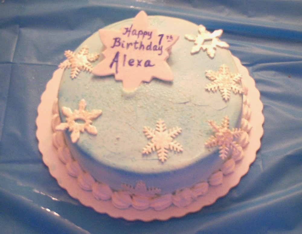 Blue Butter Cream & Snow Flakes