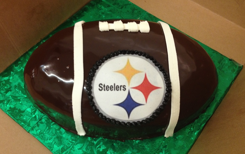 Football covered in Chocolate Ganache