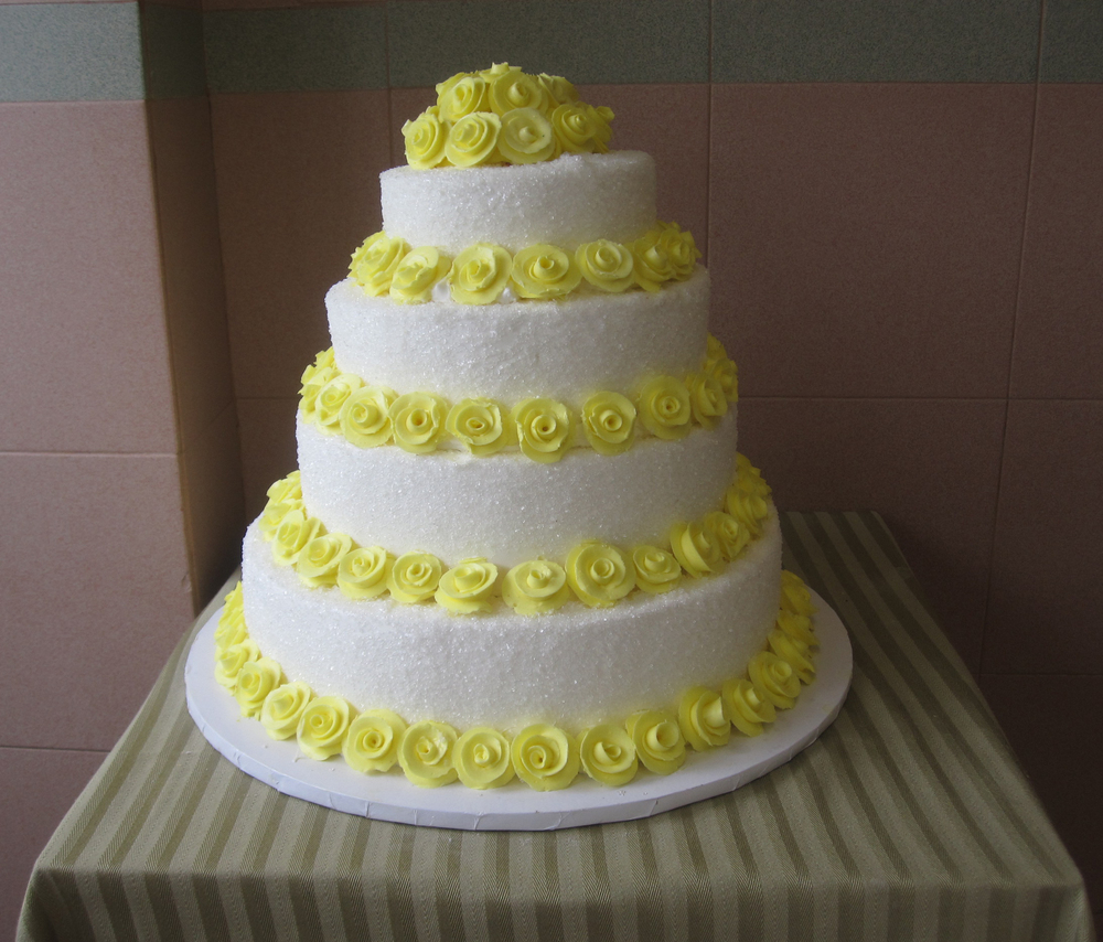 Sugar Crystals & Yellow Butter Cream Roses