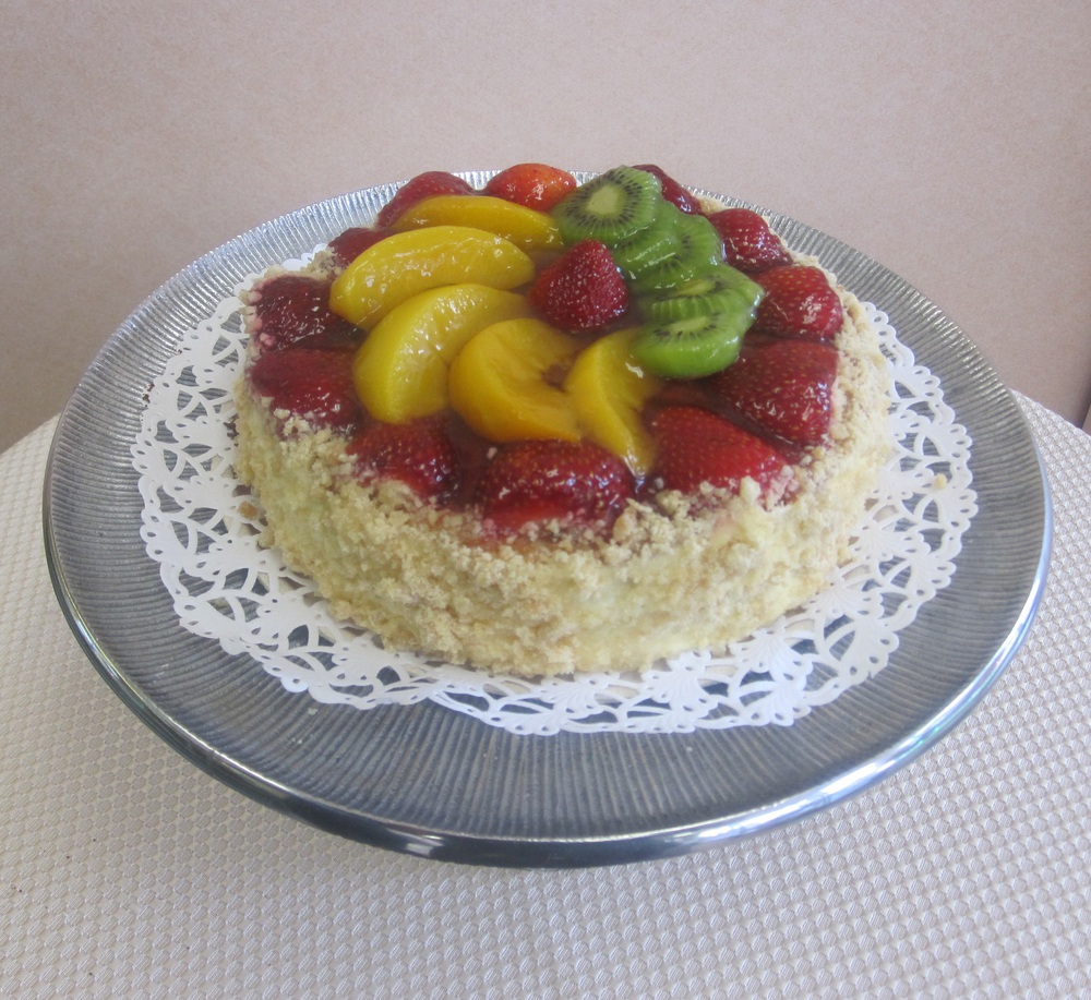 Fruit Torte with Cookie Crust