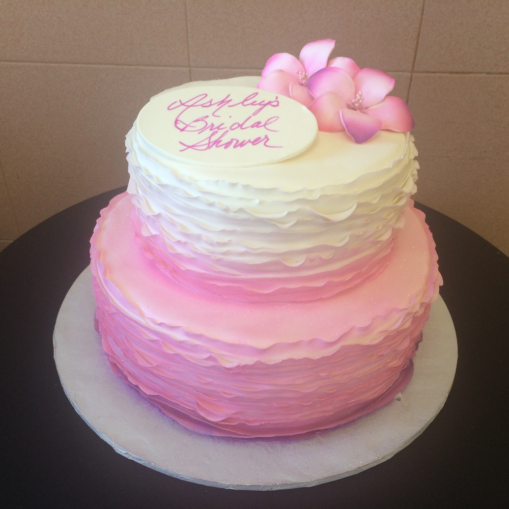 Ribboned Rolled Fondant Airbrushed Ombre Hot Pink to White. Gladiolajpg.jpg