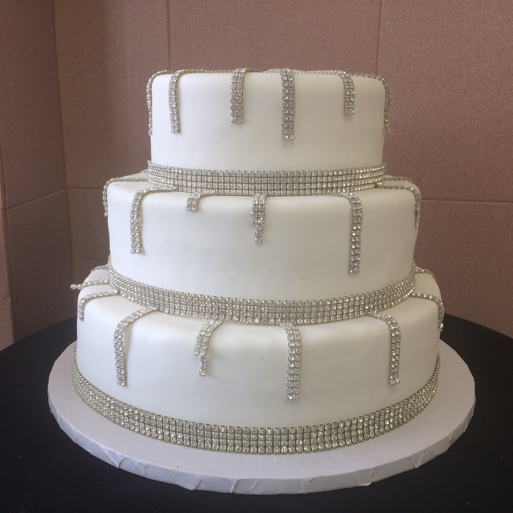 White Rolled Fondant with Crystal Around and Streaming Down.jpg