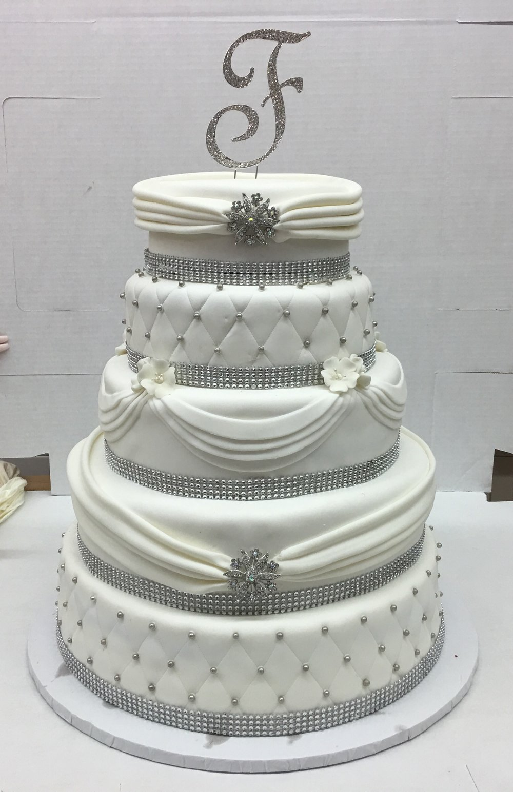 Rolled Fondant. Quilted. Wrapped Tiers with Pleated Drapes.jpg