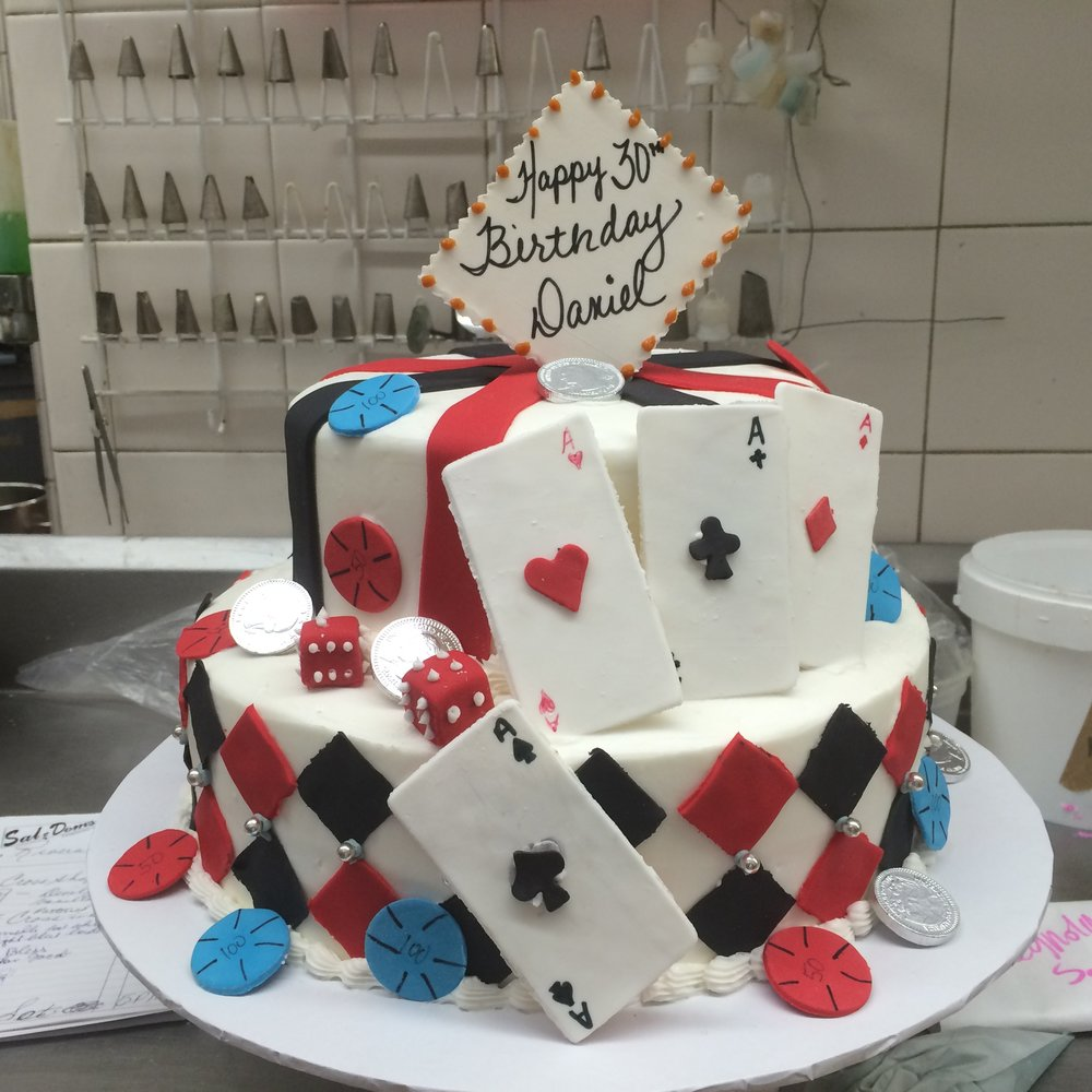 Casino Theme 2 Tier Butter Cream with Rolled Fondant Cut-Outs.jpg