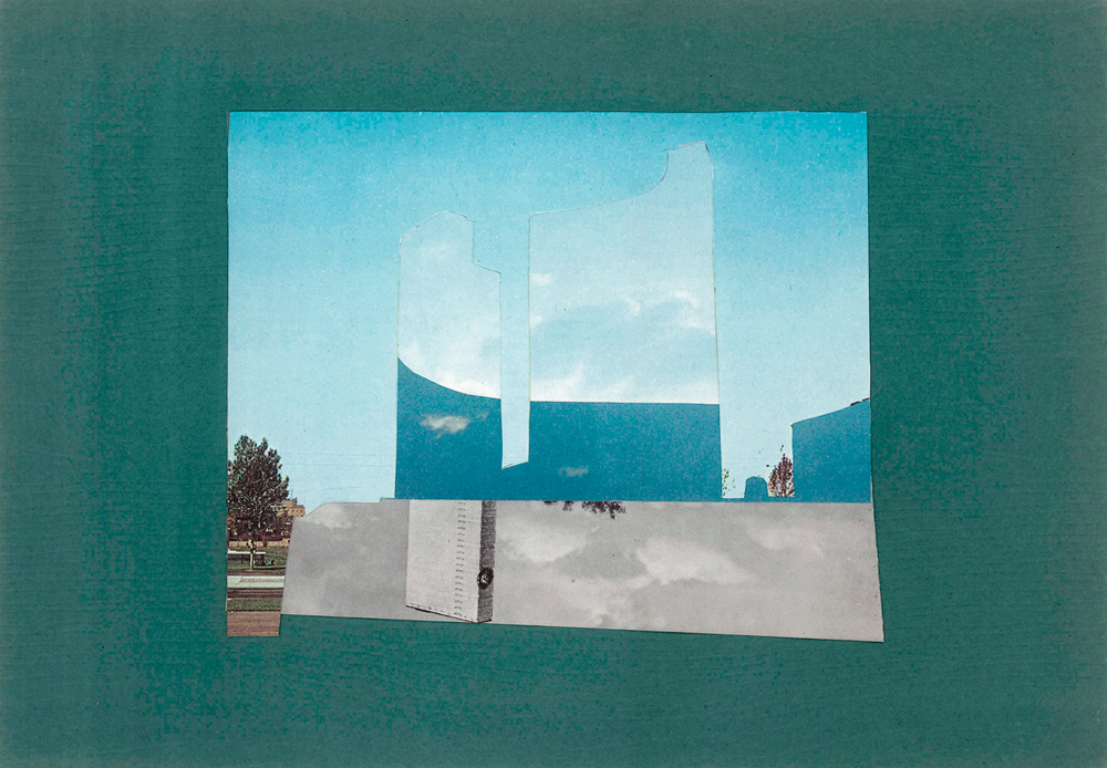 Experiments with the Sky (Physical Collage - 2013)
