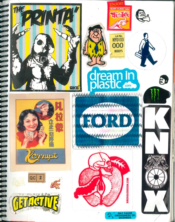 Page #1 - Sticker Collection (Morgan Jesse Lappin)