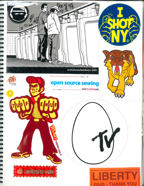 Page #7 - Sticker Collection (Morgan Jesse Lappin)