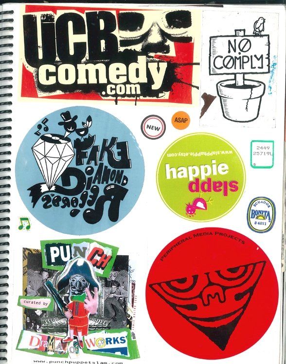 Page #9 - Sticker Collection (Morgan Jesse Lappin)