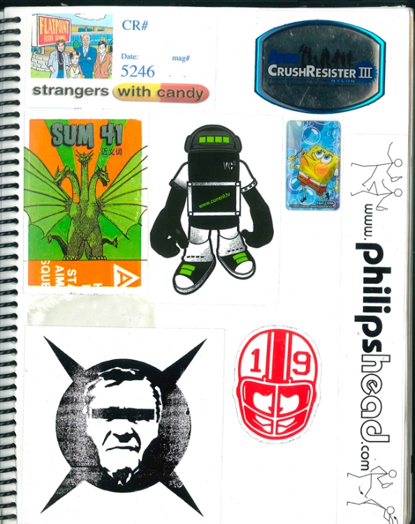Page #14 - Sticker Collection (Morgan Jesse Lappin)