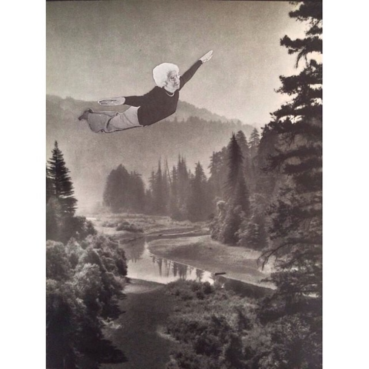 Grandma Gert's Daydream (Physical Collage - 2014) [SOLD]
